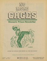 First page of No more cages A Bi-monthly women's prison newsletter vol. 4 no. 3 April/May