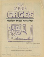 First page of No more cages A Bi-monthly women's prison newsletter vol. 4 no. 5 October/November