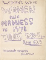 First page of Women's week Women and madness in 1978