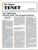 First page of The  Rights Tenet 1984 December