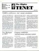 First page of The  Rights Tenet 1987 Jan.