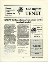 First page of The  Rights Tenet 1992 Summer