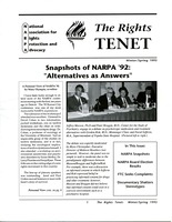 First page of The  Rights Tenet 1993 Winter/Spring