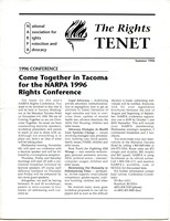 First page of The  Rights Tenet 1996 Summer