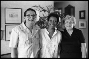First page of Cuban writer Nancy Morejón (center)