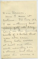 First page of Letter from Rose Hinckley to Florence Porter Lyman