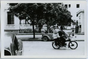First page of Couple on motorbike, French Quarter
