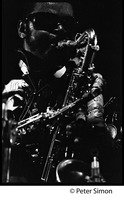 First page of Rahsaan Roland Kirk in performance on two saxophones, Newport Jazz Festival