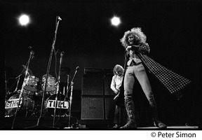 First page of Jethro Tull in concert, Newport Jazz Festival L. to r.: Martin Barre (guitar) and Ian Anderson