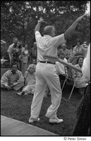 First page of My Wedding: Peter Dean, uncle of Peter Simon, seen from behind as he performs for the wedding party
