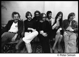 First page of Grateful Dead group shot Left to right: Bill Kreutzman, Bob Weir, Jerry Garcia, Keith Godchaux, Mickey Hart, Donna Jean             Godchaux, Phil Lesh