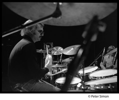 First page of Grateful Dead in rehearsal on stage: Bill Kreutzman (drums)