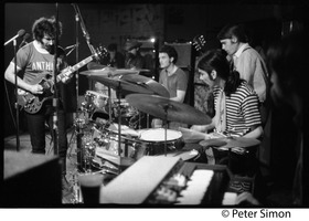 First page of Grateful Dead performing at the Ark L. to r.: Jerry Garcia (guitar), Pigpen McKernan (keyboards), Bill Kreuzman (drums),             Mickey Hart (drums), Bob Weir (guitar), Tom Constanten (keyboards)