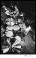 First page of Bill Kreutzman (top) and Mickey Hart, drummers for the Grateful Dead at their             kit