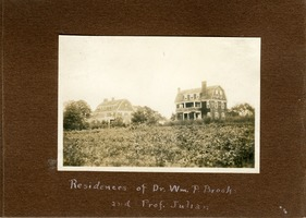 First page of Residences of Dr. Wm. P. Brooks and Prof. Julian