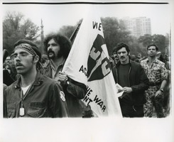 First page of Vietnam Veterans Against the War carry their banner