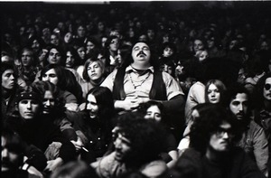 First page of Grateful Dead at Sargent Gym, Boston University: man with eyes closed in audience