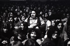 First page of Grateful Dead at Sargent Gym, Boston University: man in audience