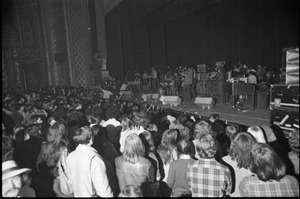 First page of Grateful Dead performing at the Music Hall: view of full band from audience