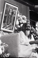 First page of Maharishi Mahesh Yogi at the University of Massachusetts Amherst: the Maharishi on stage