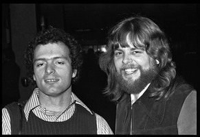 First page of Al Perry (left) and Stu Werbin at Elektra Records party