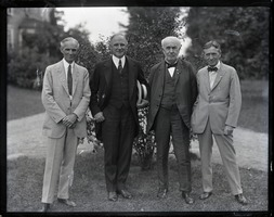First page of Henry Ford, Gov. Alvan Fuller, Thomas A. Edison, and Harvey Firestone (l. to r.)
