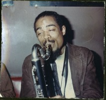 First page of Eric Dolphy: half-length portrait performing at the Jazz Workshop