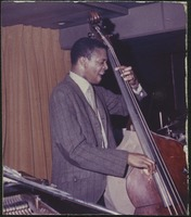 First page of Jimmy Garrison (double bass) performing at the Jazz Workshop