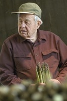 First page of Hibbard Farm: Wallace Hibbard with asparagus