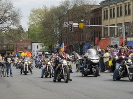 First page of Contingent of motorcyclists riding west on Main Street: Pride Parade, Northampton