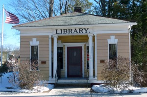 First page of Haydenville Public Library: front exterior