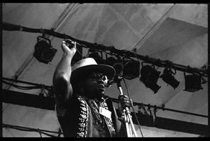 First page of Taj Mahal performing at the Newport Folk Festival
