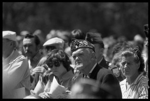 First page of American Legionnaire in the crowd at the dedication ceremonies for the Rhode Island Vietnam             Veterans Memorial