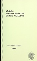 First page of Commencement 1942 Bulletin Massachusetts State College 34, no. 5