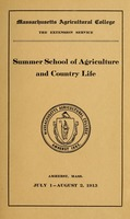 First page of Summer School of Agriculture and Country Life nad School for Rural Social             Workers M.A.C. Bulletin vol. 5, no. 3