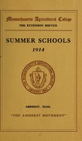 First page of Summer schools 1914: 'The Amherst movement' M.A.C. Bulletin vol. 6, no. 4
