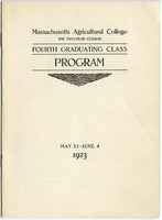 First page of Fourth graduating class: Program