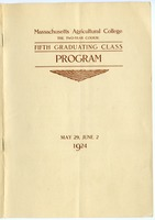 First page of Fifth graduating class: Program