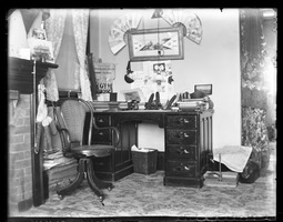 First page of My corner and desk [dormitory room, South College], Massachusetts Agricultural College
