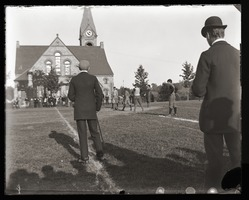 First page of Kickoff to a football game near Old Chapel, Massachusetts Agricultural College