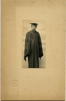First page of William Lane Hood: studio portrait in academic gown