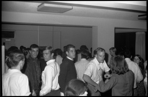 First page of Students at a dance in Kennedy 5th lounge, UMass Amherst