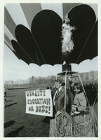 First page of Dwight W. Allen in hot air balloon