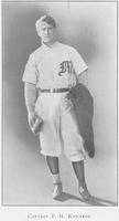 First page of Frank H. Kennedy in baseball uniform