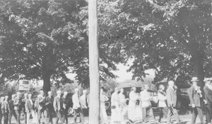 First page of Class of 1919 during commencement ceremony