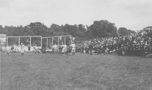 First page of Baseball game and spectators