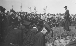 First page of Class of 1927 commencement