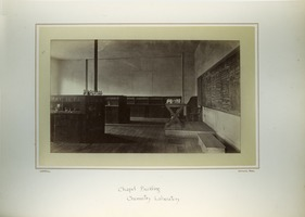 First page of Chapel Building, chemistry laboratory, Massachusetts Agricultural College