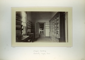 First page of Chapel Building, chemistry supply room, Massachusetts Agricultural College