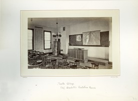 First page of Interior of Prof. Goodell's recitation room, Massachusetts Agricultural College